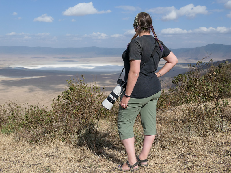 Amanda at Ngorongoro Crater