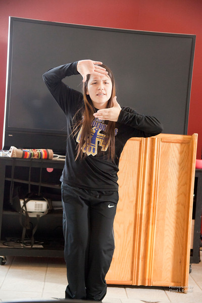 "Havre Daily News/Floyd Brandt  The Self Transitional and Identity Recovery Project (STAIR) held a Methamphetamine Symposium at the Aaniiih Nakoda College Thursday January 26,2017, Ft Belnap, Montana. Maxine Plainfeather student at Hays High School presented a dance that reflected her experience as a foster child where she was exposed to the drug culture. ""Now when I go for walks I see used needles on the ground,"" she said."