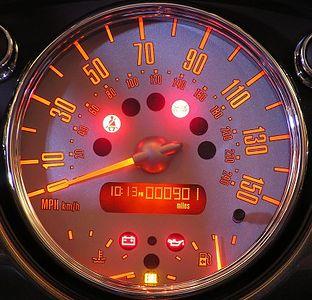 The speedometer is as big as huge!