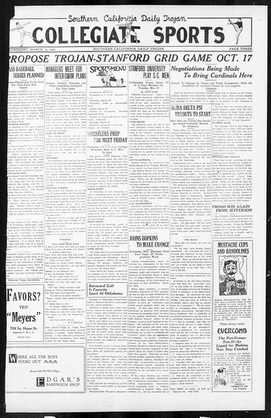 Daily Trojan, Vol. 16, No. 71, March 18, 1925