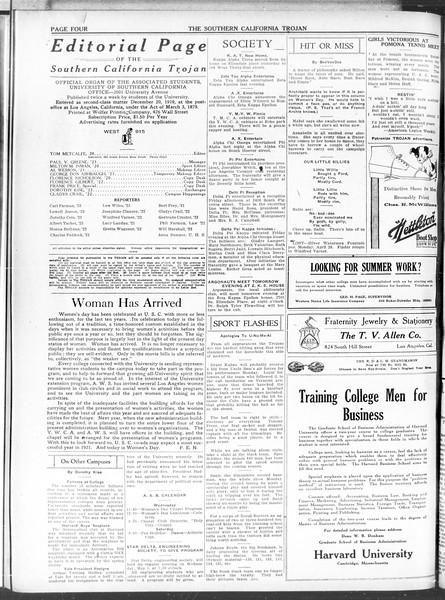 The Southern California Trojan, Vol. 11, No. 91, May 05, 1920