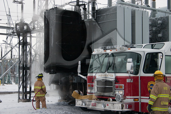 Substation Fire - Henrietta, NY 1/14/12