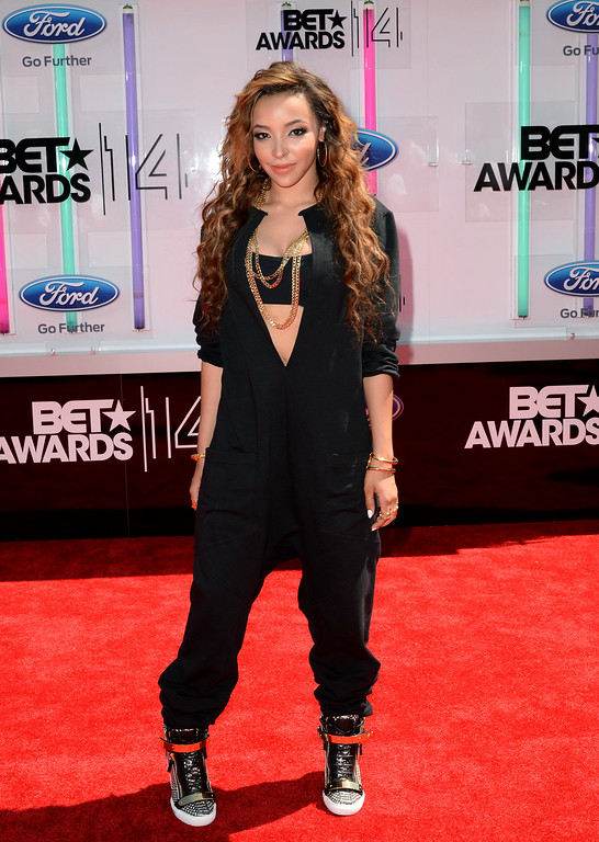 . Singer Tinashe attends the BET AWARDS \'14 at Nokia Theatre L.A. LIVE on June 29, 2014 in Los Angeles, California.  (Photo by Earl Gibson III/Getty Images for BET)