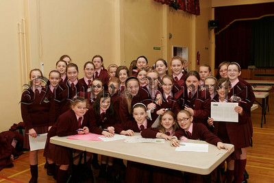 Year 8 Pupils St Marys High School who took part in the Sentinus Fun Maths Day on Thursday last.06W44N9