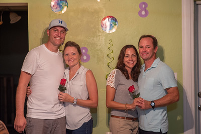 Chris , Jen, Andy, Deanna Anniversary Party