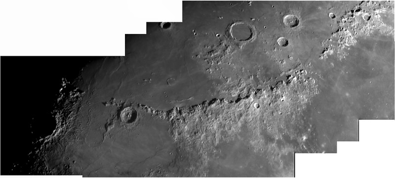 Montes Apenninus with Copernicus Along the Terminator