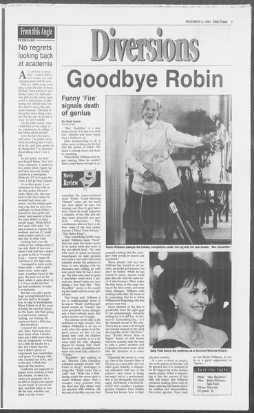 Daily Trojan, Vol. 121, No. 63, December 03, 1993