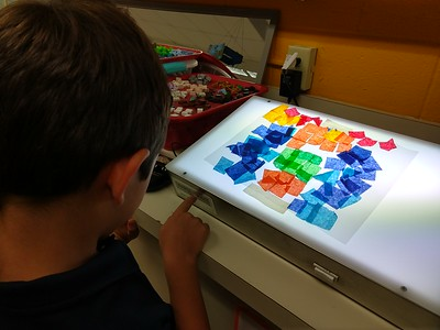 """1st Grade Art Deco """"Stained Glass"""""""