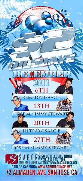 $2 TUESDAYS w/ LMFAO @ Sabor Tapas Bar & Lounge 12.13.11