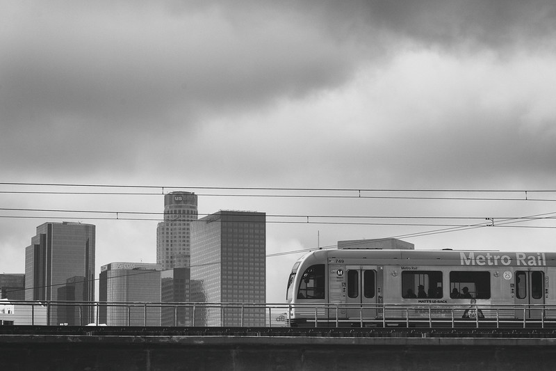 The Metro Gold Line in Chinatown in downtown Los Angeles.