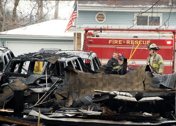 Bensenville Jan 5, 2008 - Residential Garage Fire, 2 hospitalized