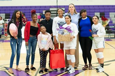 Girls basketball and step senior night vs La Joya