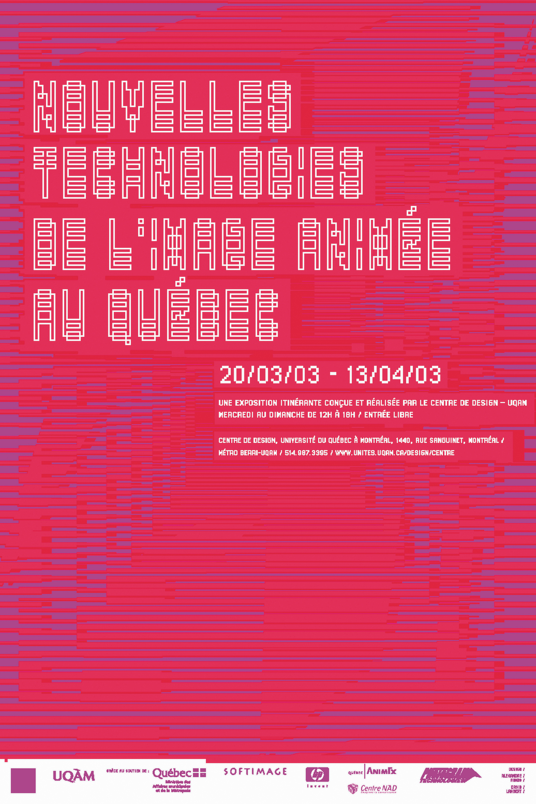 2003 - Exposition - Nouvelles technologies de l'image animée au Québec ©Alexandre Renzo