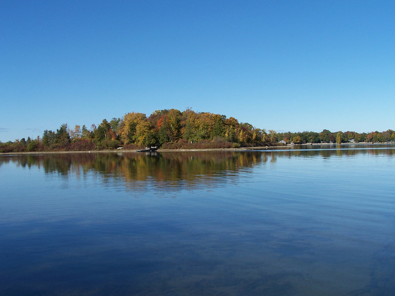 Small island off the shore from the Potawatomi State Park in Sturgeon Bay.