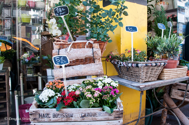 Marseille, France: Flower shop