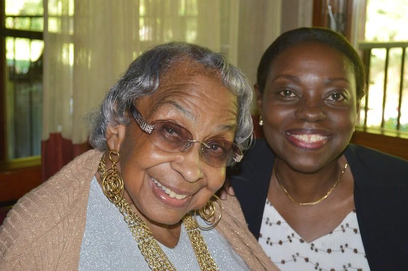 Mama and Gloria Evans