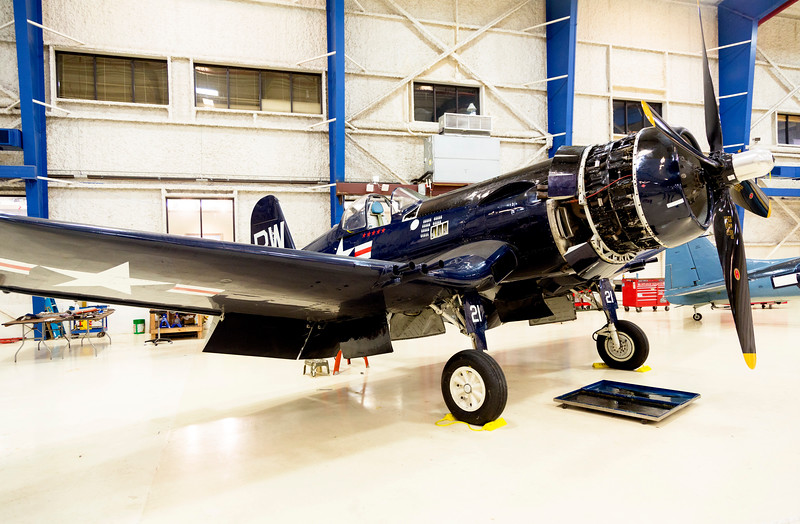 "Chance-Vaught FSU-5N, ""Corsair"" Navy fighter plane."