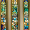Pentecost window - Tiffany style <br> glass by Calvert & Kimberly, New York