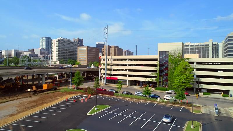 Aerial footage Birmingham Alabama USA