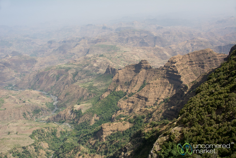 Layers of Mountains in the Simien Mountains, Ethiopia