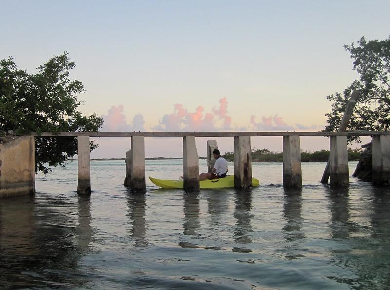 Kayak fishing the old salt factory
