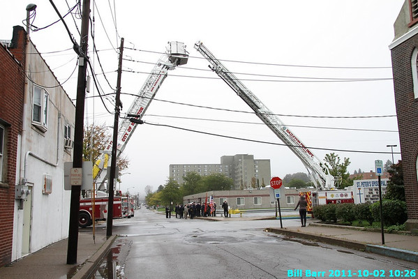 Hazleton Fire Blue Mass 10/2/11
