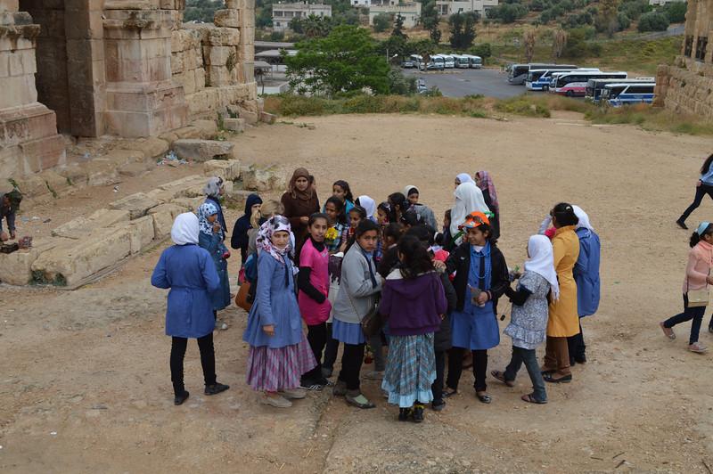 0045_AB and Jordan Schoolgirsl at Jerash.JPG
