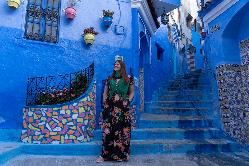 Amanda in Chefchaouen, Morocco