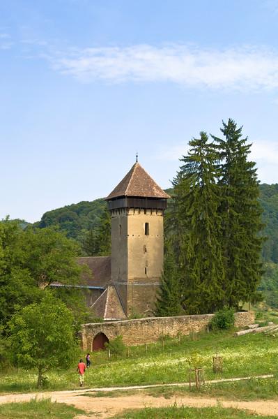 Fortified  Saxon church, Malancrav, Transylvania, Romania