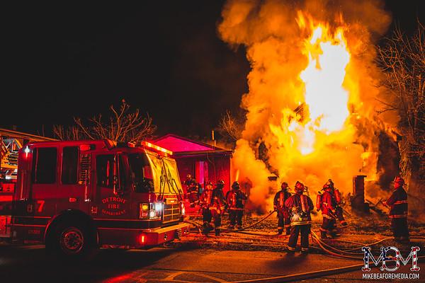 Detroit MI, House Fire 1-10-2021 #3