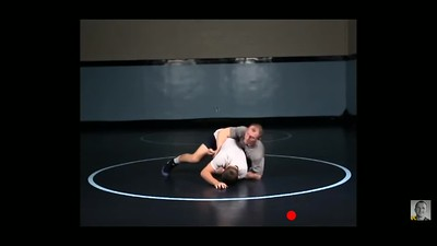 Cross wrist to near side cradle while flat