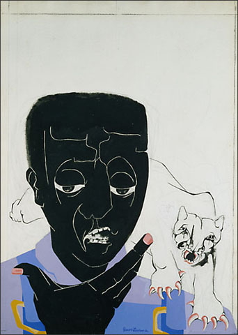 "Jacob Lawrence, ""Portrait of Stokely Carmichaelr"" (1967)"
