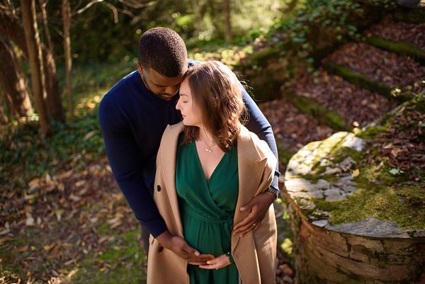 Jess and Matt Maternity_Longwood Gardens