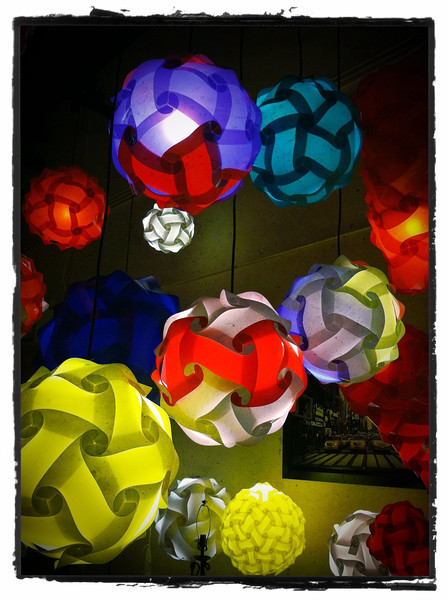 Colorful lamps.