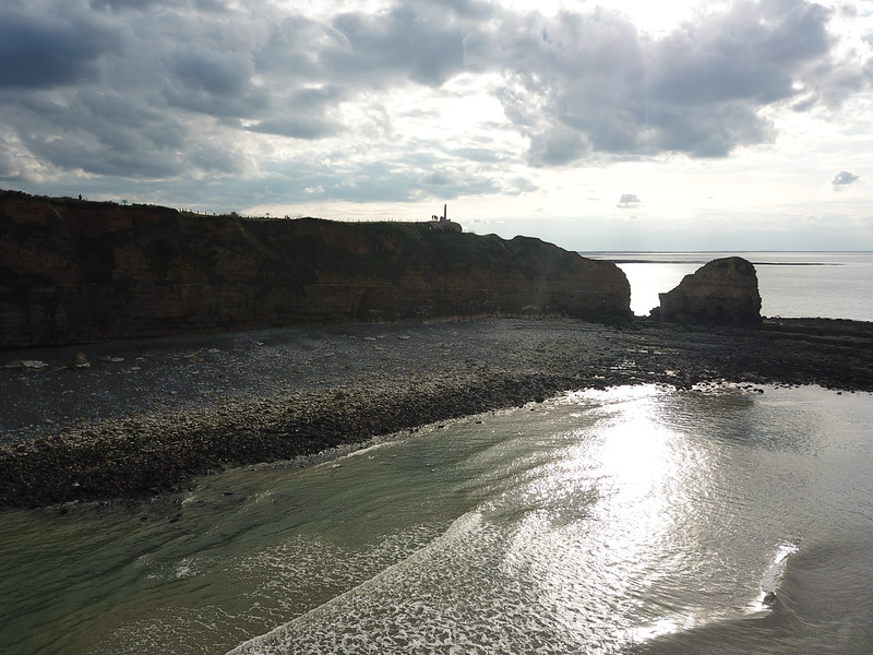 Site of the beach landings at Point du Hoc