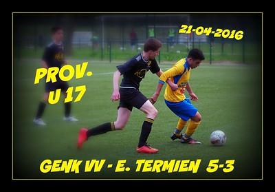 Genker VV - E. Termien  PROV  U 17   21/04/2016