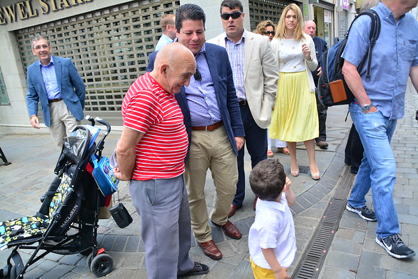 Chief Secretary Daniel Alexander, accompanied by Chief Minister Fabian Picardo and Deputy Chief Minister Joseph Garcia walked through Main Street campaigning for a Liberal vote at the next European Elections.