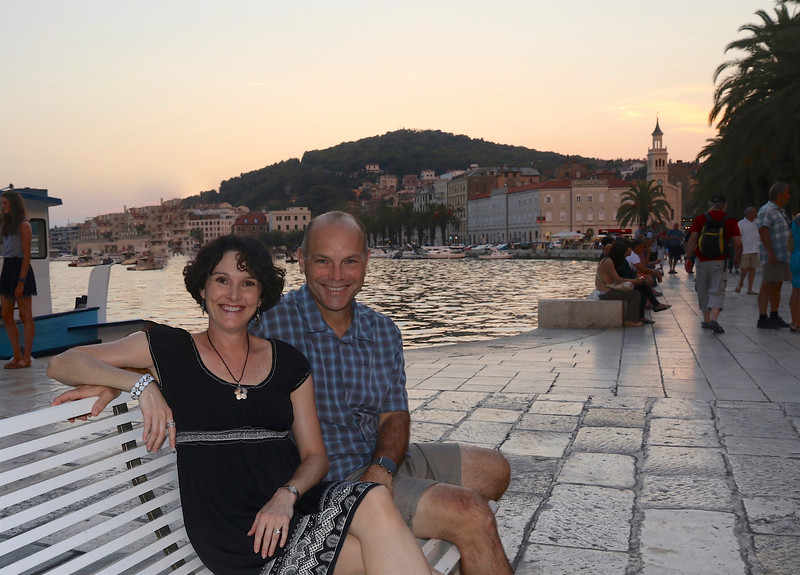 Relaxing on the Riva - Split's waterfront promenade