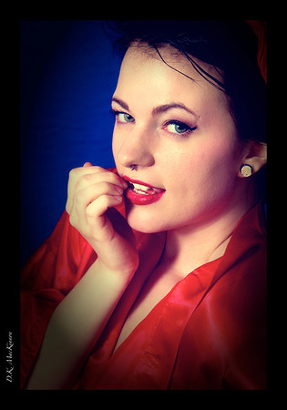 Red Robe Pinup