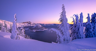 Winter sunrise, Crater Lake National Park
