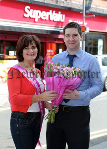 Press Eye - Belfast - Northern Ireland -  5th August 2014 - Picture by Darren Kidd / Press Eye.  SuperValu Newry -   Gloria Havern with Paul McArdle
