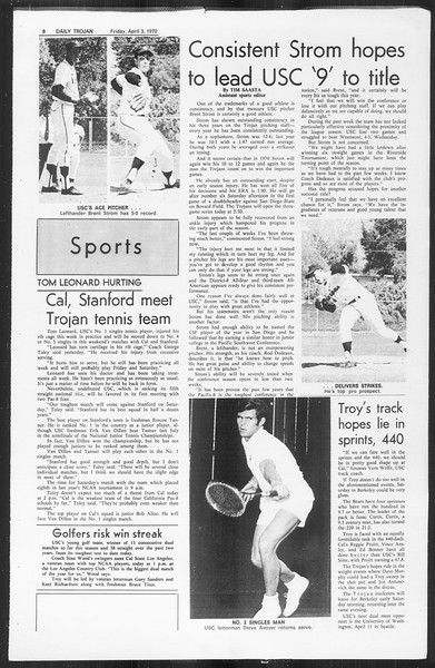 Daily Trojan, Vol. 61, No. 99, April 03, 1970