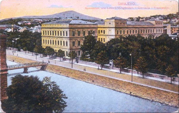 Zgrada Gimnazije i Muške učiteljske škole, sagradjene 1891.godine..