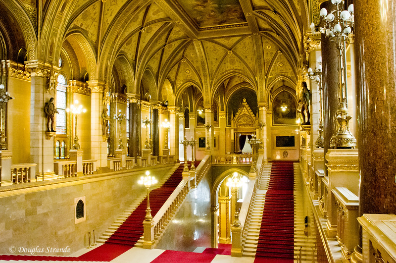 Hungarian Parliament in Budapest:  Grand Staircase