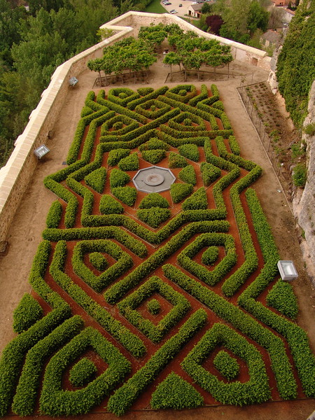 Garden in the Alcázar of Segovia