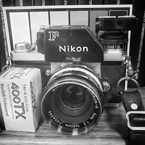 Sandy with a Nikon F