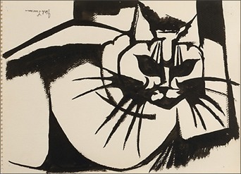 "Jacob Lawrence, ""Cat"" 1967"