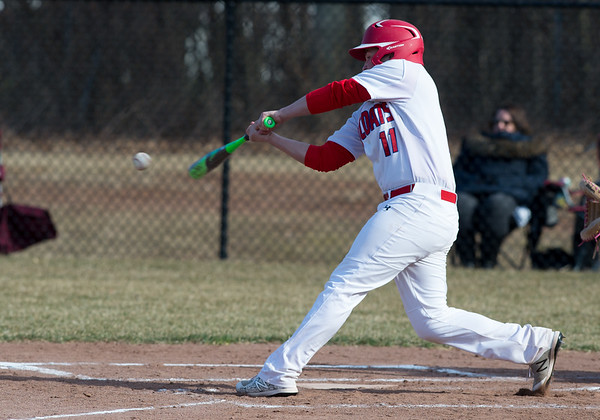 04/04/19 Wesley Bunnell | Staff Berlin baseball defeated Wethersfield at Sage Park on Thursday afternoon. Jeffrey Kuzoian (11).