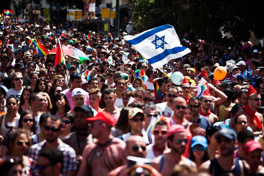 . People take part at the annual Gay Pride parade in Tel Aviv June 7, 2013.  REUTERS/Nir Elias