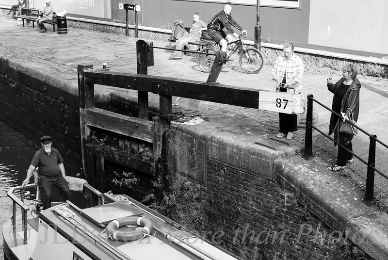 Working the locks in Manchester Photo courtesy of a passing photographer: Daniel Cadden
